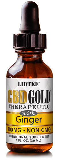 Bottle pic for CBD Gold with Ginger