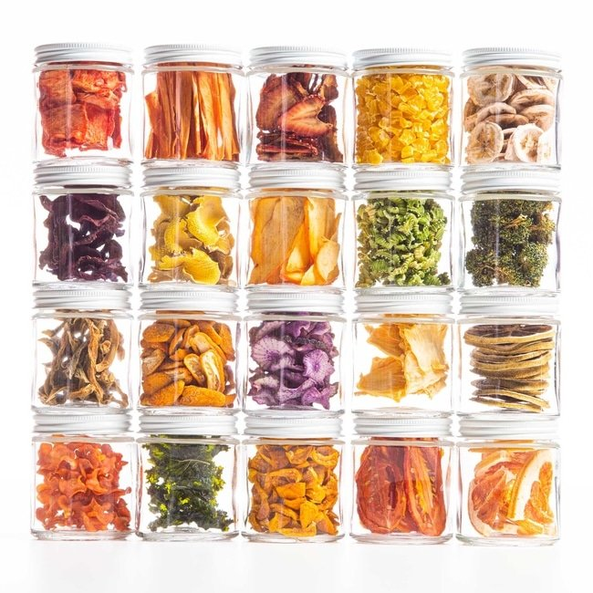 Dehydrated Fruits in Jars