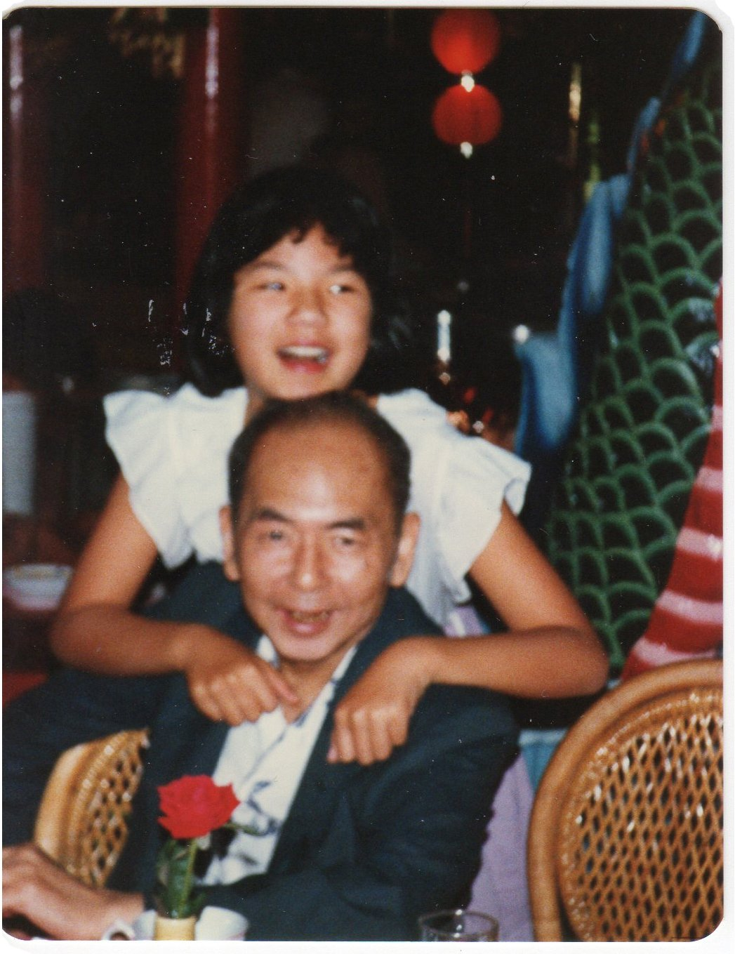 Juliana and her father Hen Sen Chin