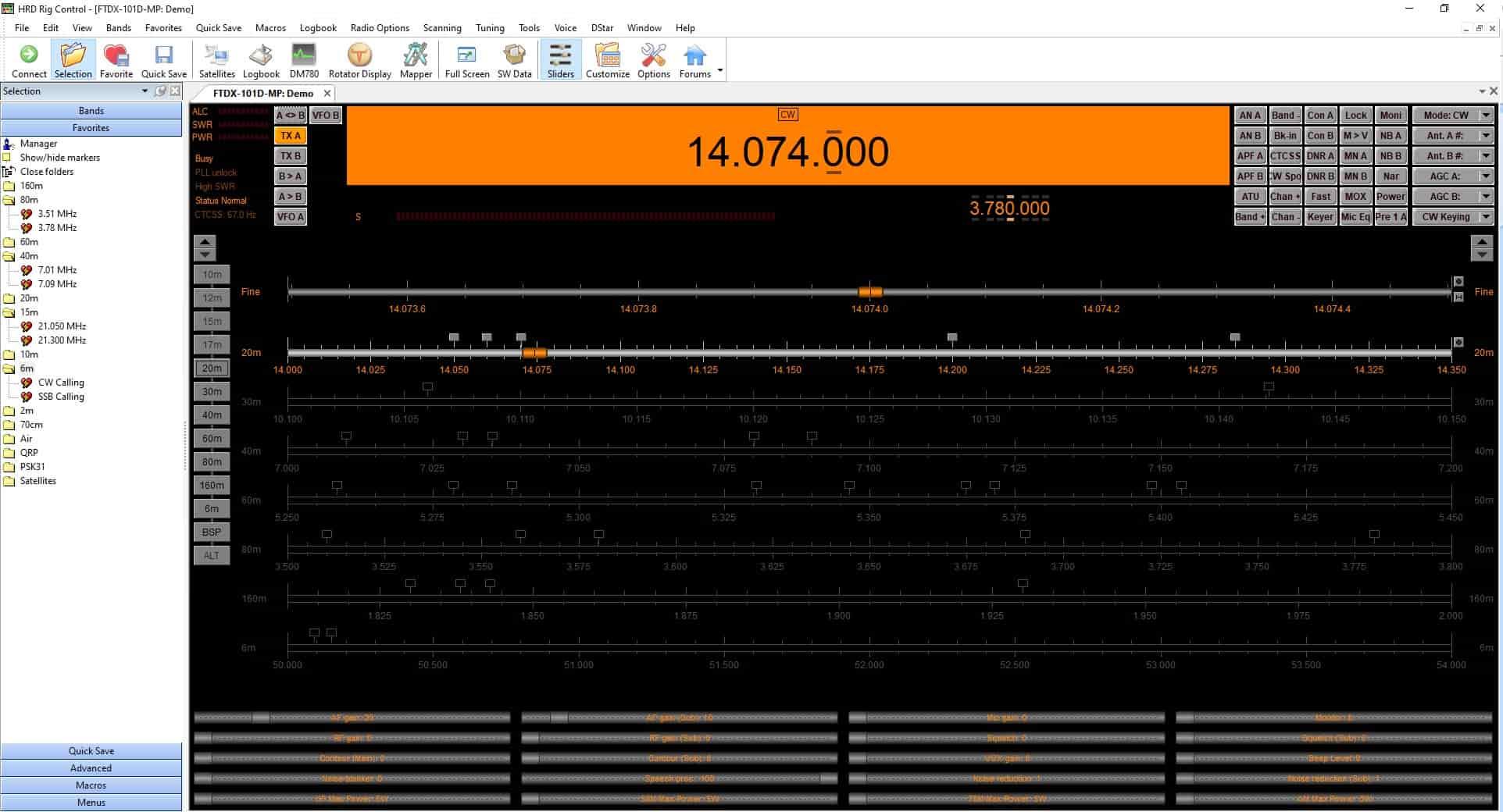 Ham Radio Deluxe Rig Control for Ham Radios