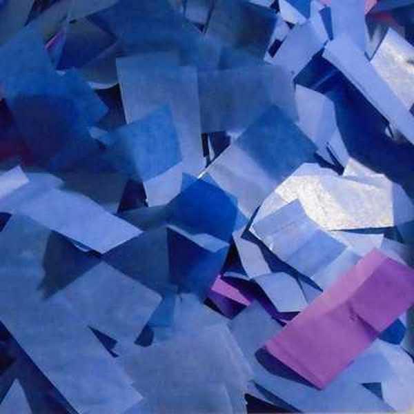 blue tissue confetti