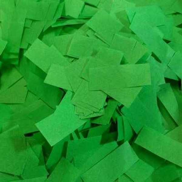 green tissue confetti