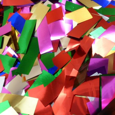 multi-color metallic confetti