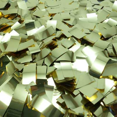 gold metallic confetti