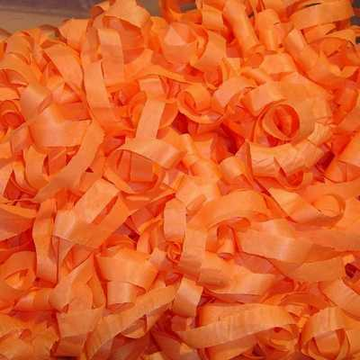 orange tissue streamers