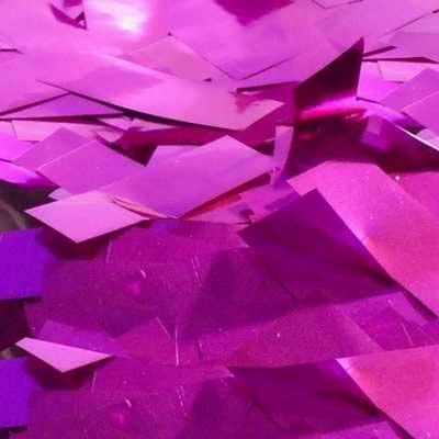 pink metallic confeti