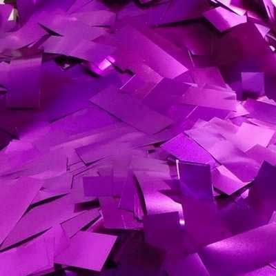 purple metallic confetti