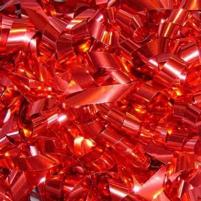 red metallic streamers