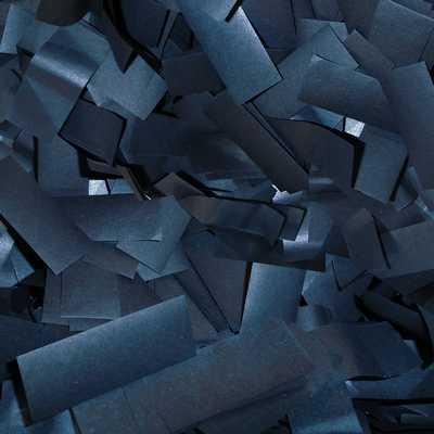 black tissue confetti