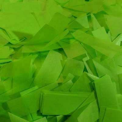 light green tissue confetti