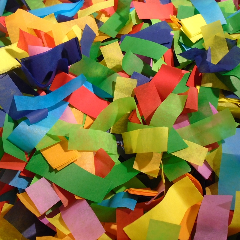 multi color tissue confetti