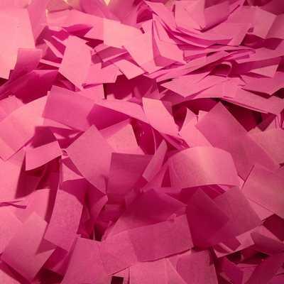 pink tissue confetti