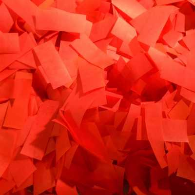 red tissue confetti