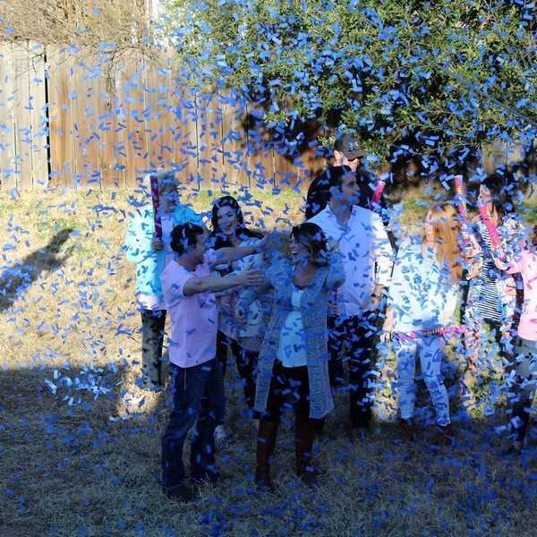It's a confetti party