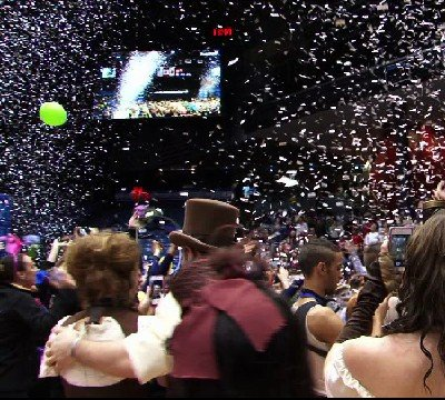 Great confetti celebration