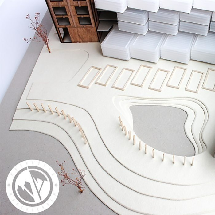 Architectural model topographic