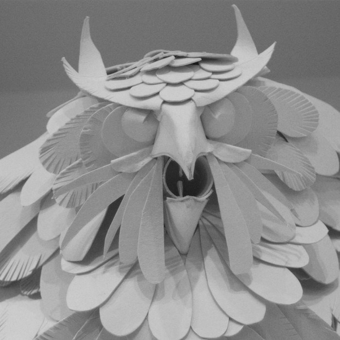 Arct class art therapy sculpture of bird