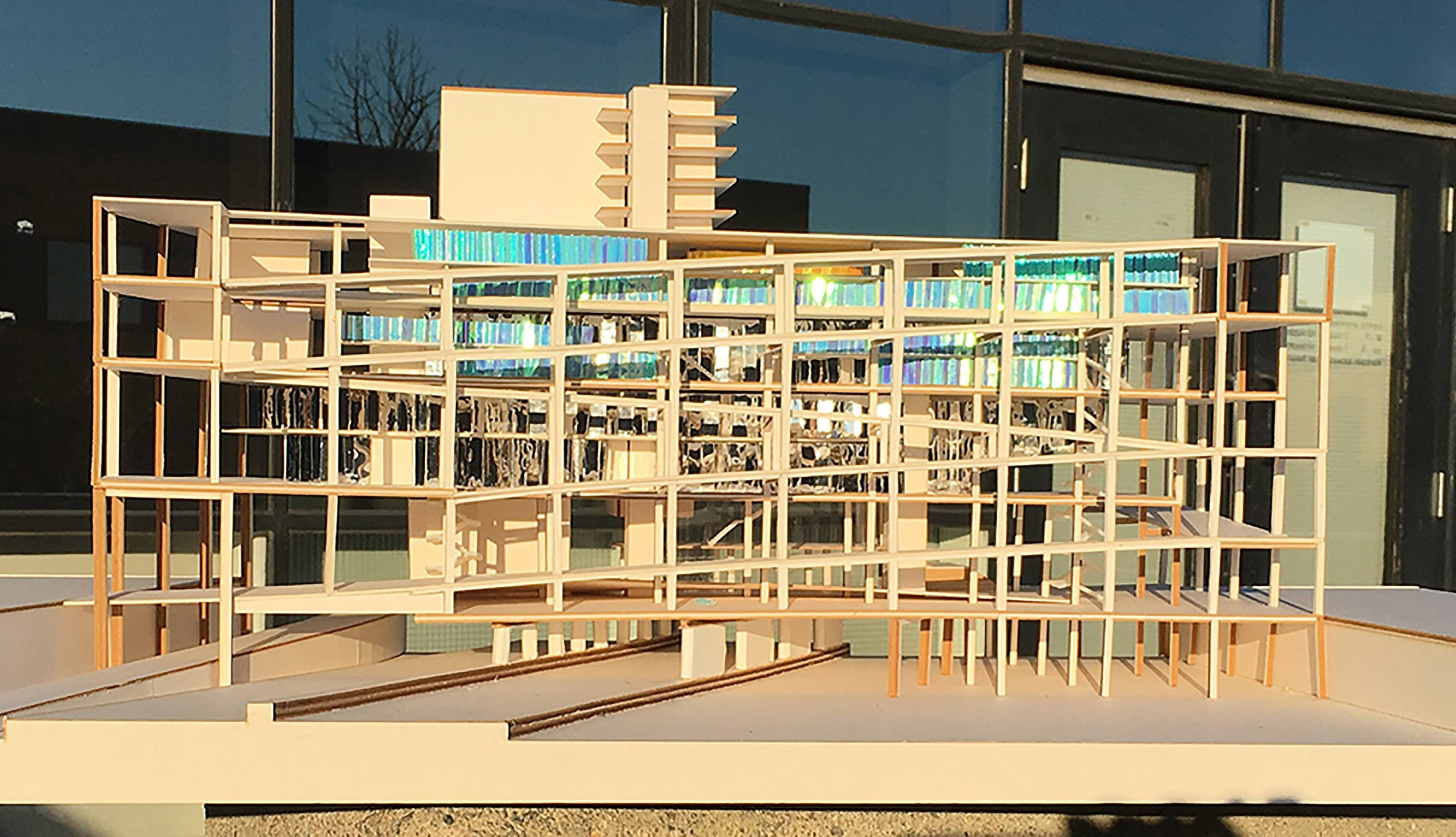 Facade of architectural model