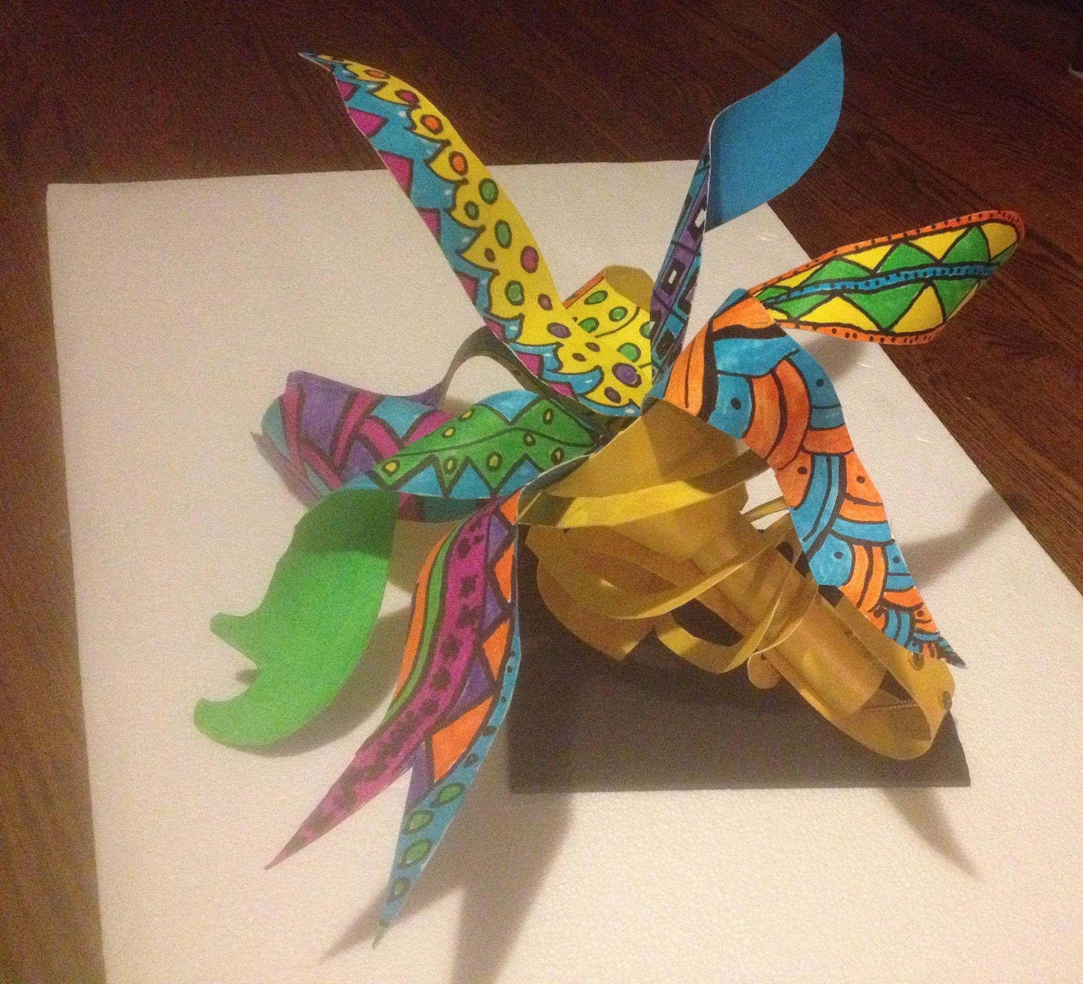 Trumpet sculpture paper craft