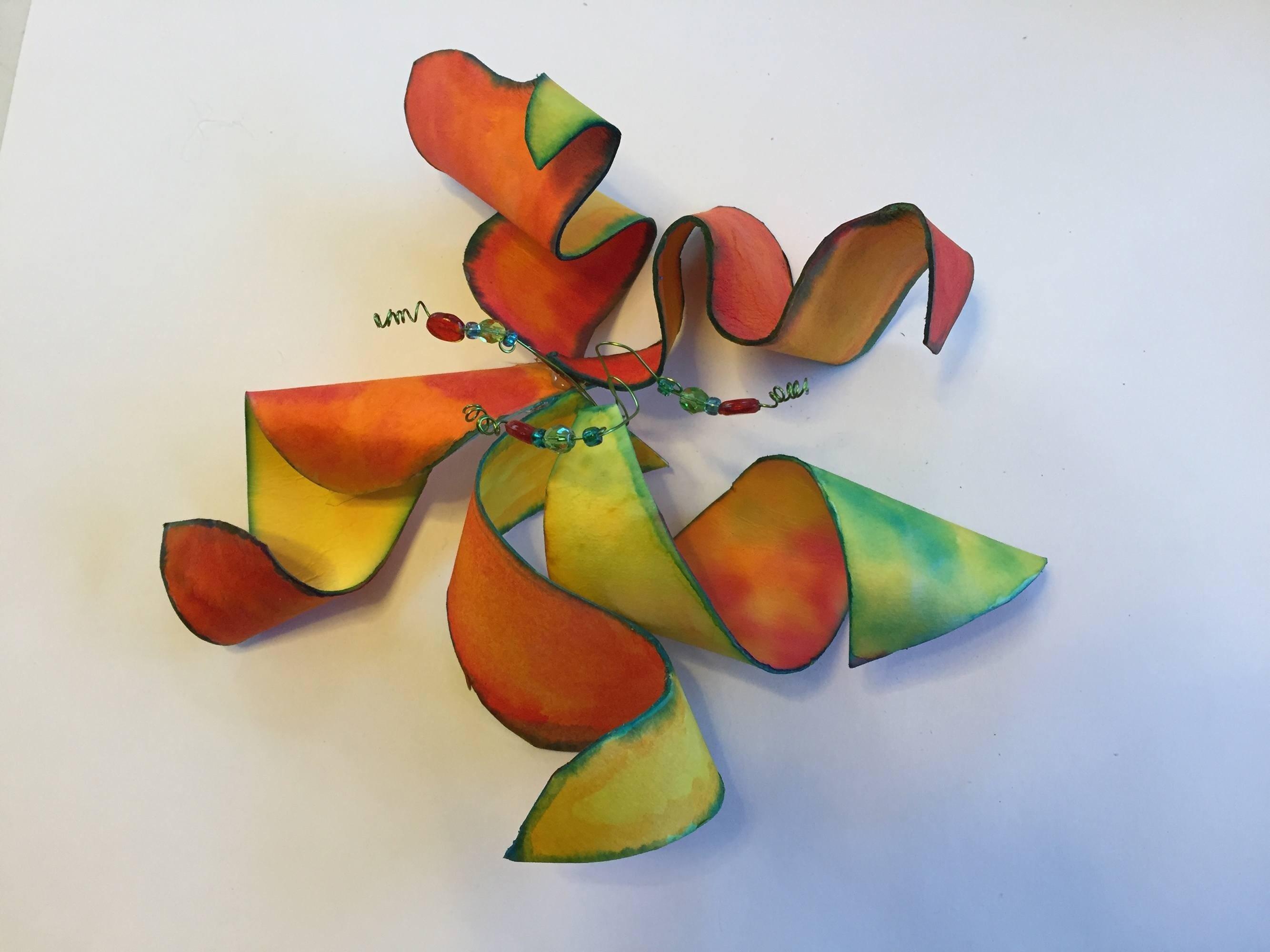 Water color k12 art project flower