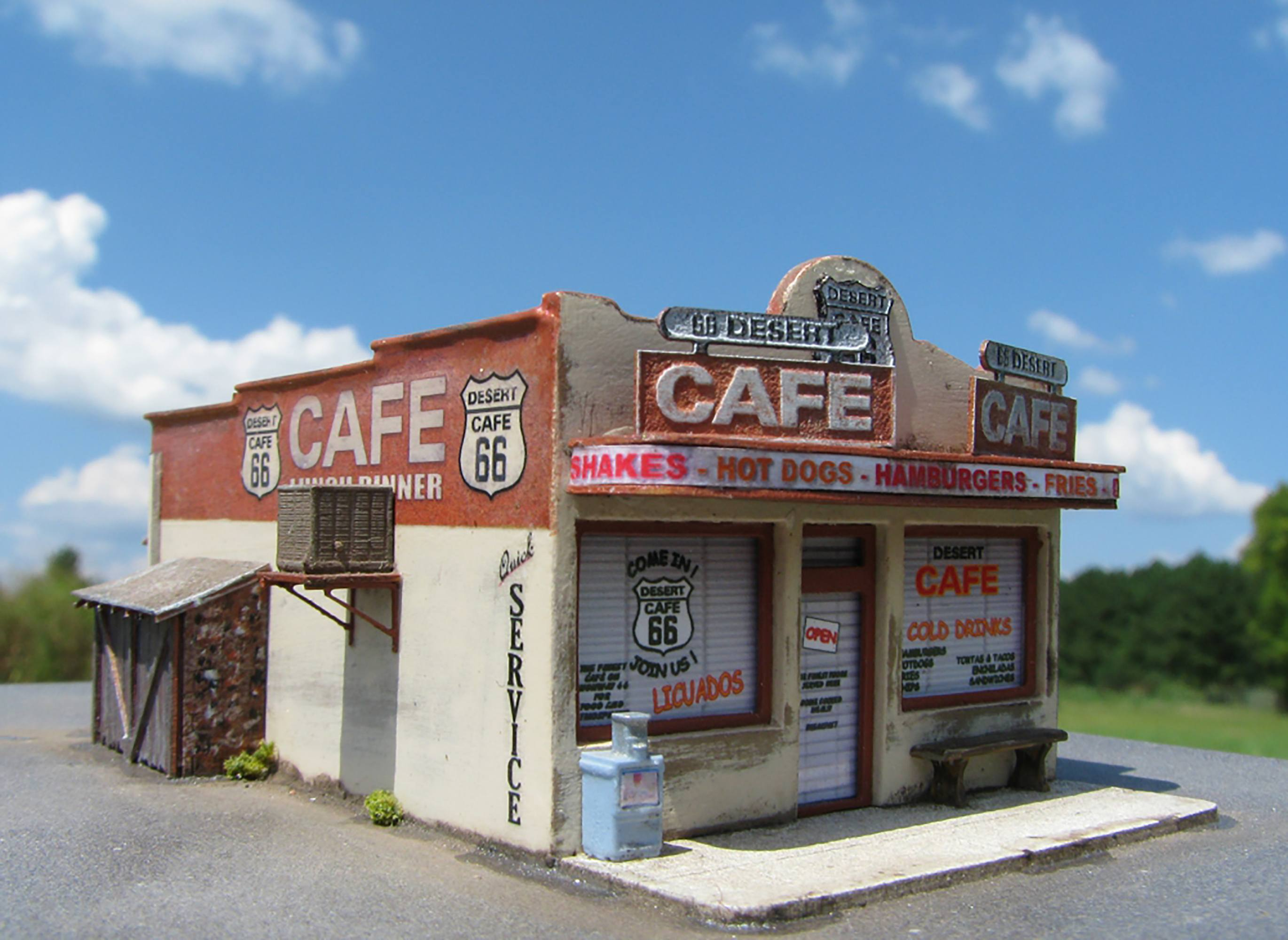 Café model railroading