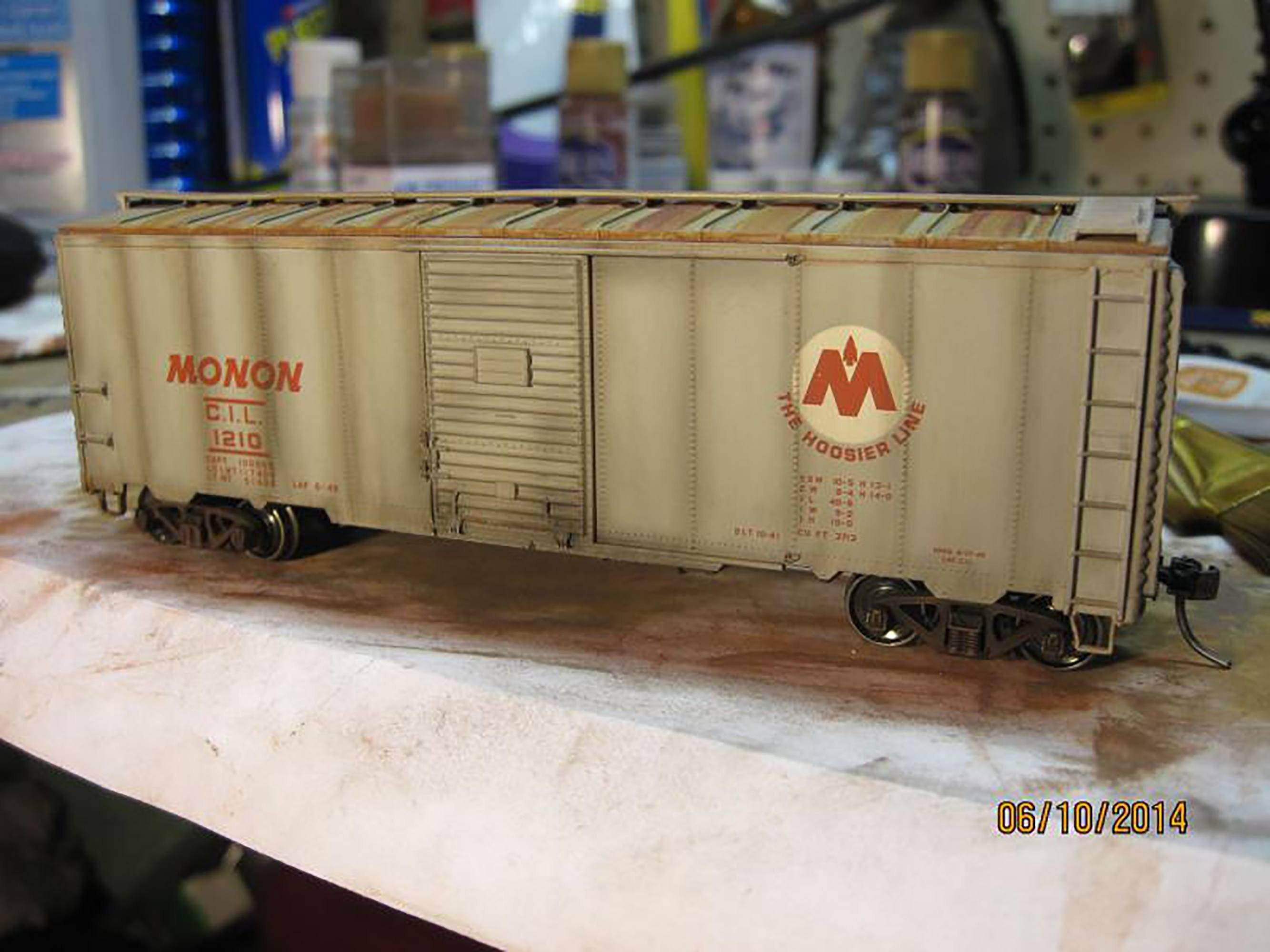 Freight car railroad model O scale