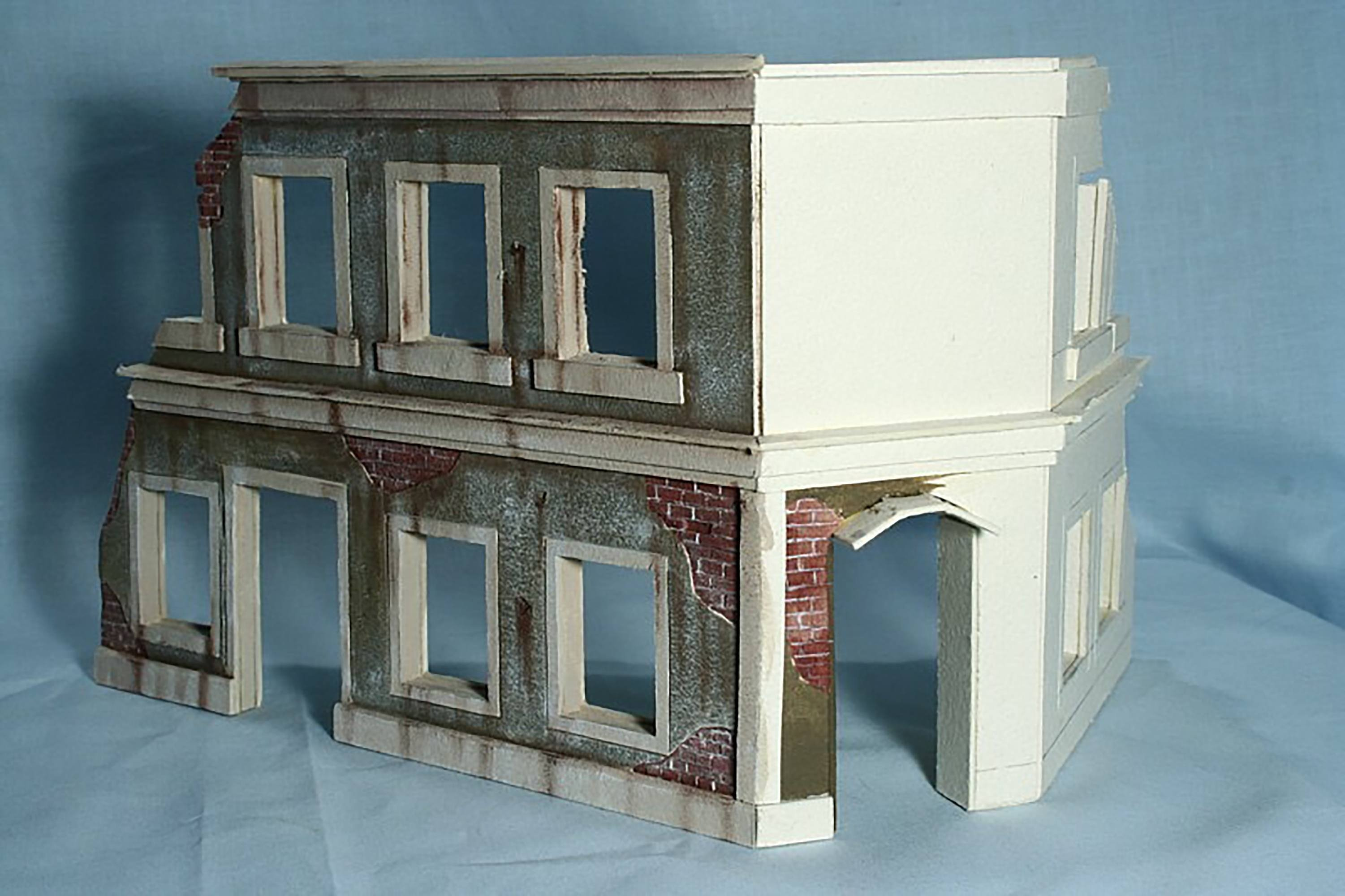 Scratch made railroad model building