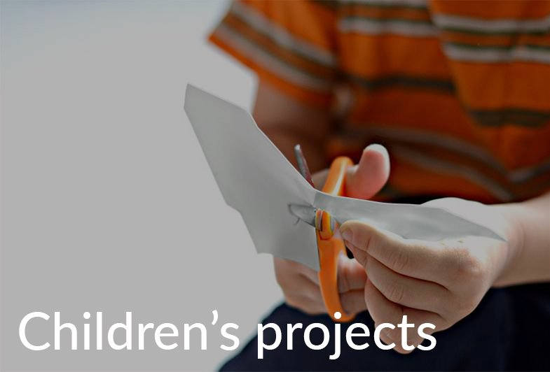 Child cutting with scissors Taskboard