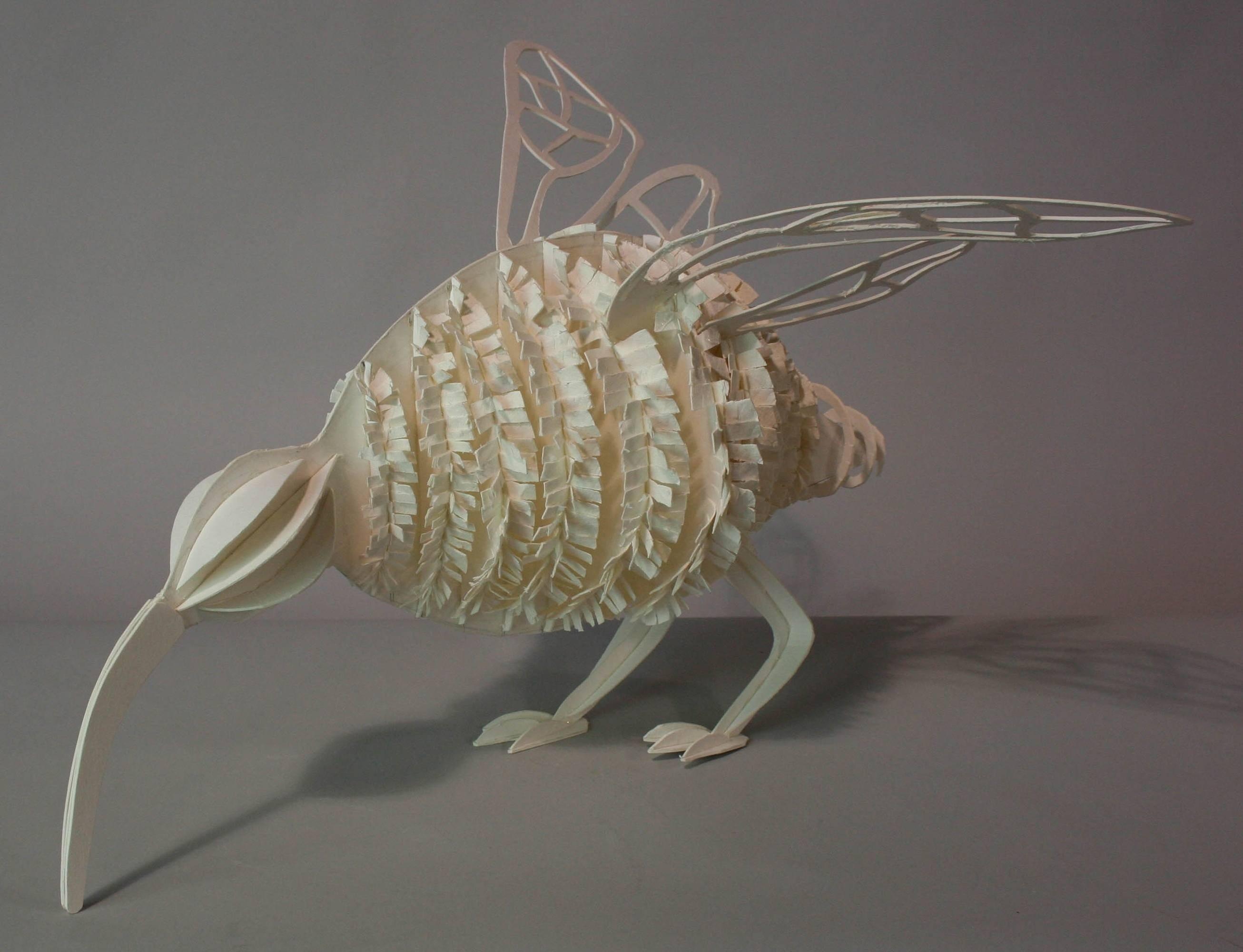 Bird shape art project in cardboard