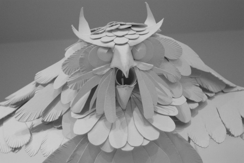 Gargoyles cardboard art class project