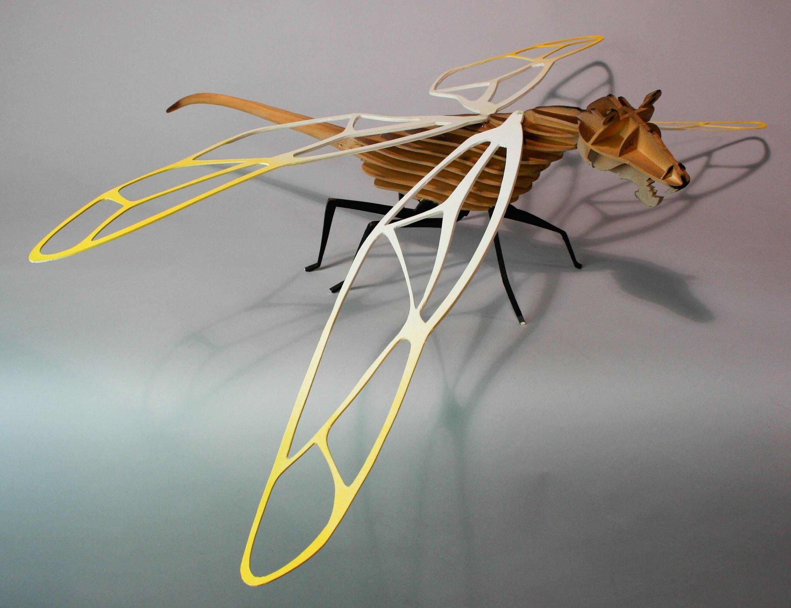 Ladybug sculpture made from cardboard