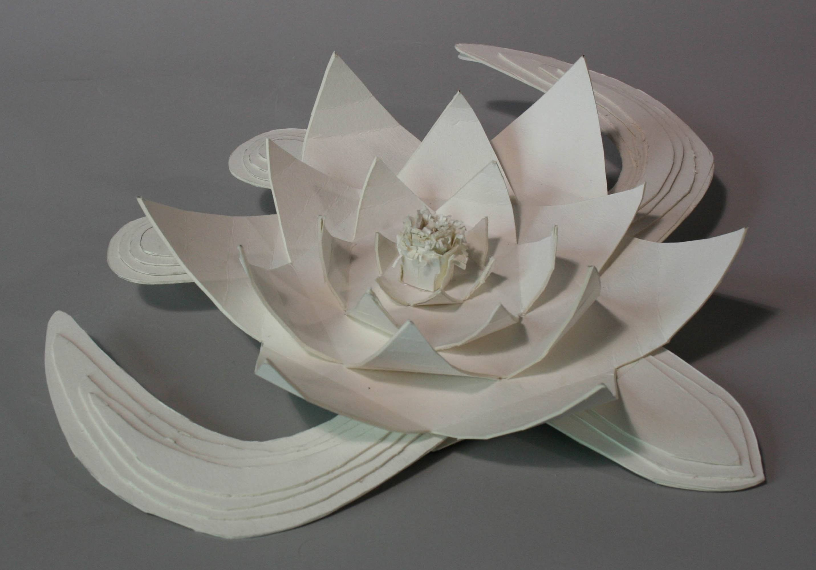 Lotus flower art therapy class cardboard project