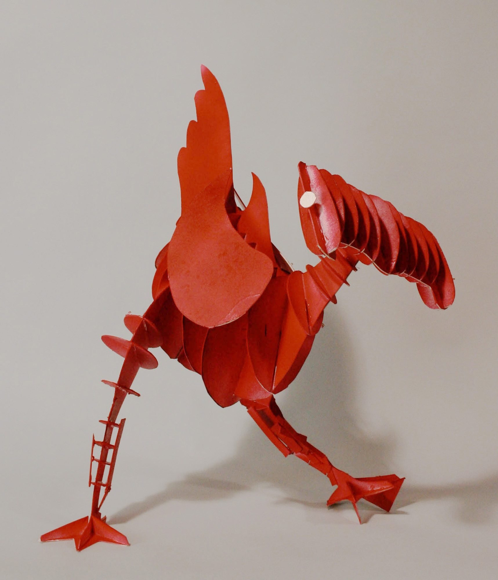 Red rooster made of Taskboard cardboard