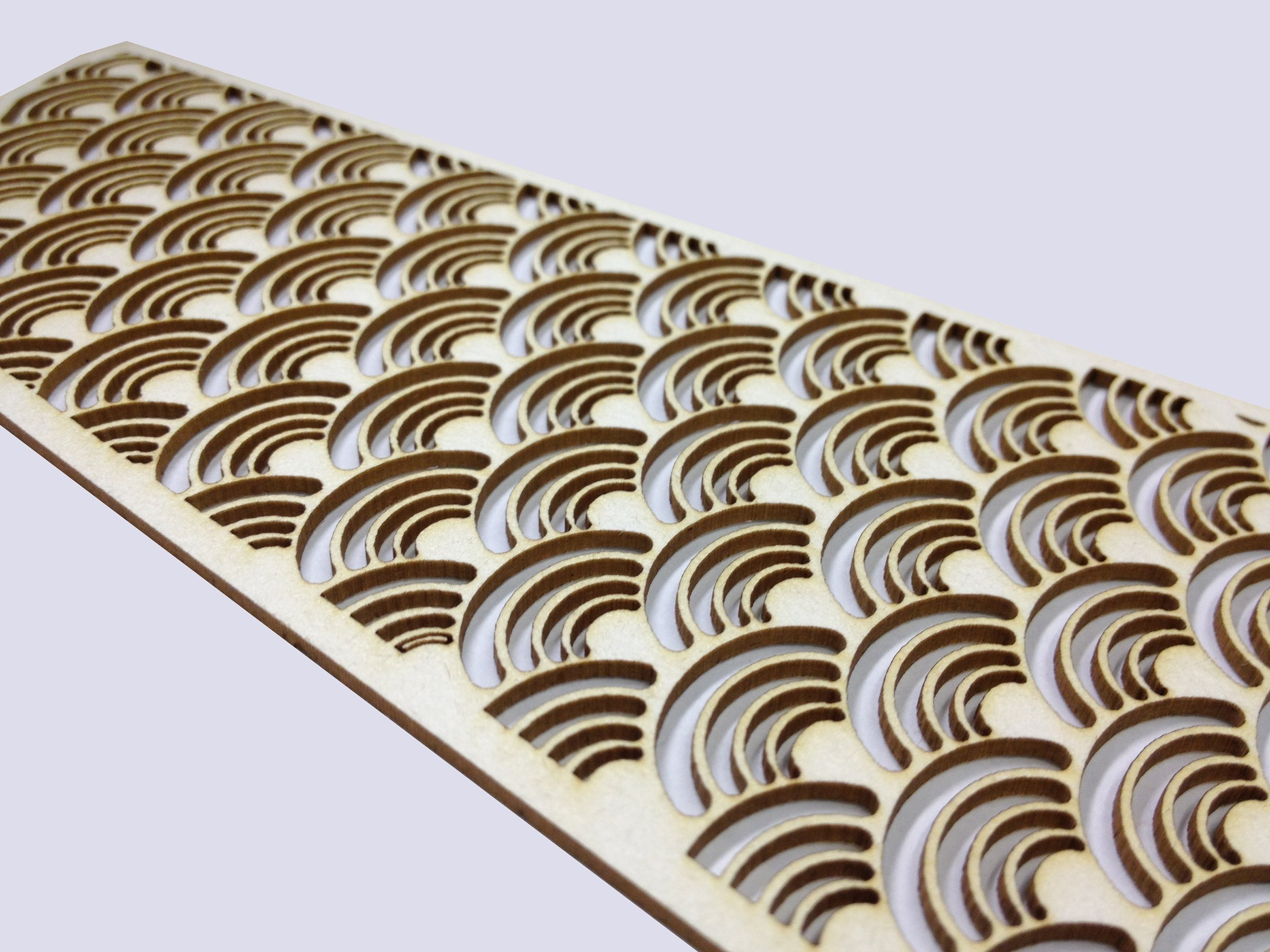 Laser cut cardboard intricate shape