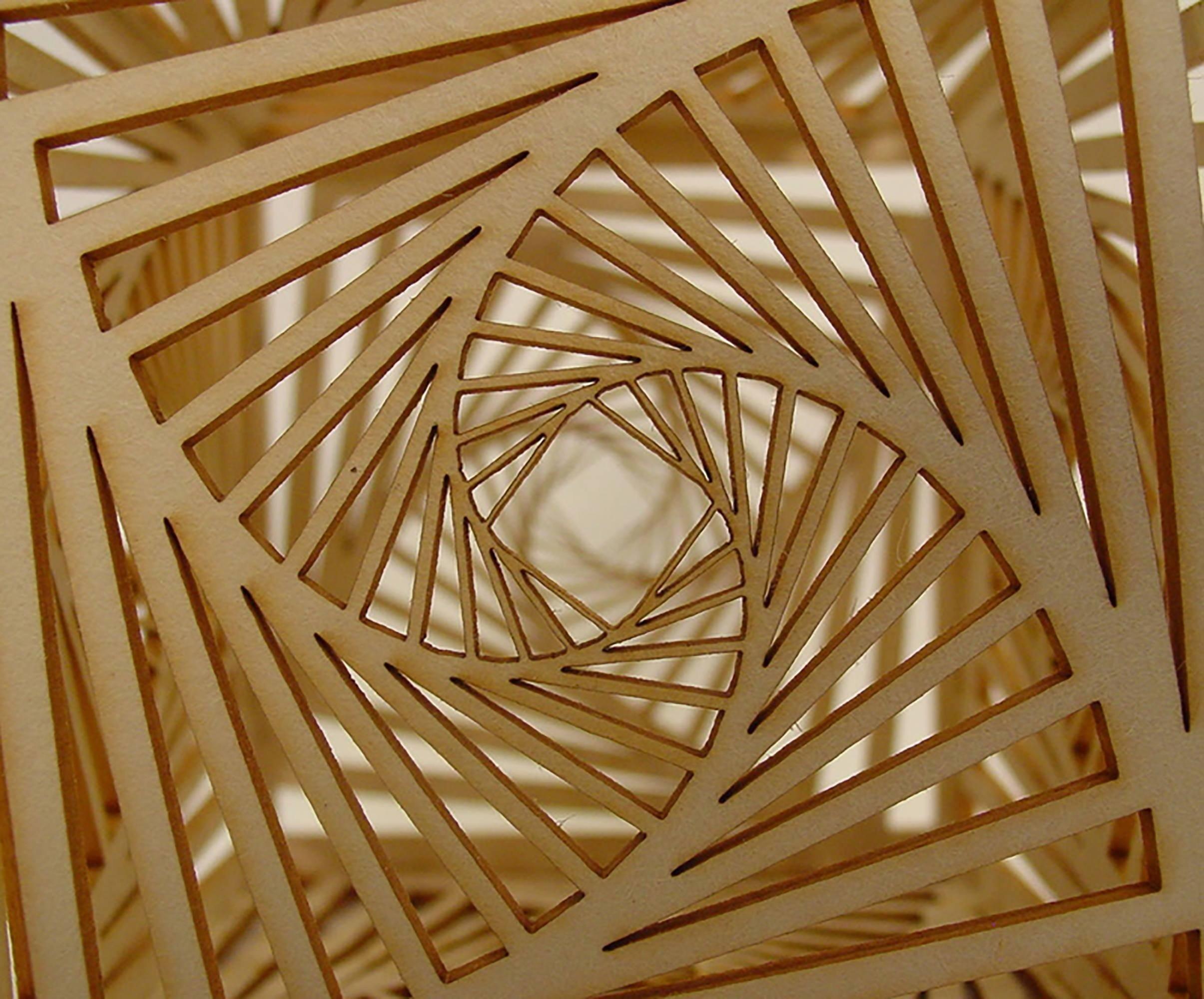 Laser cut cnc cardboard pattern