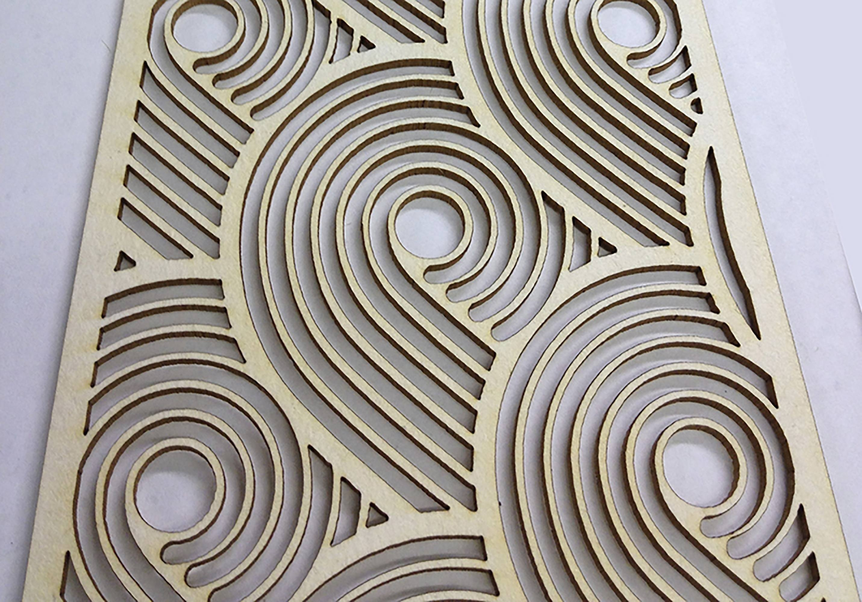 Laser cutting pattern in cardboard Taskboard