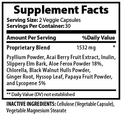 Natural Colon Detox Supplement Facts
