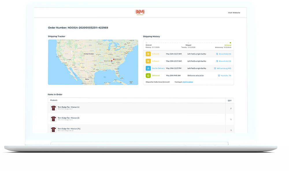 StoreFront Order Tracking