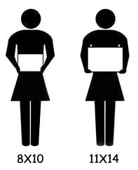 8x10 photo vs 11x14 photo human